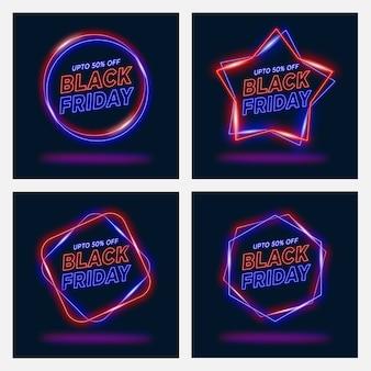 Sexta-feira negra estilo neon