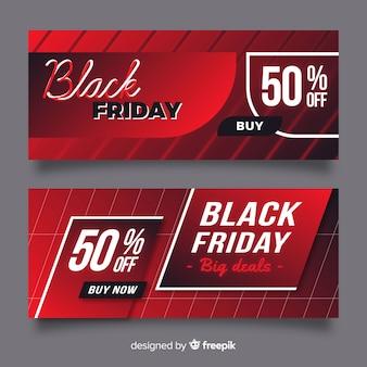 Sexta-feira negra grandes negócios gradiente banner
