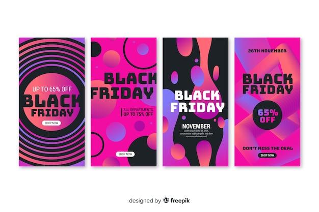 Sexta-feira negra instagram stories collection