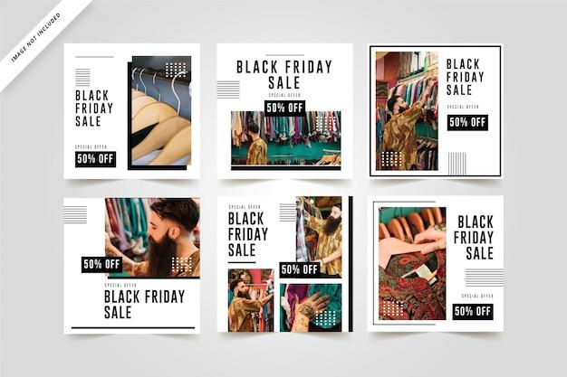 Sexta-feira negra instagram templates