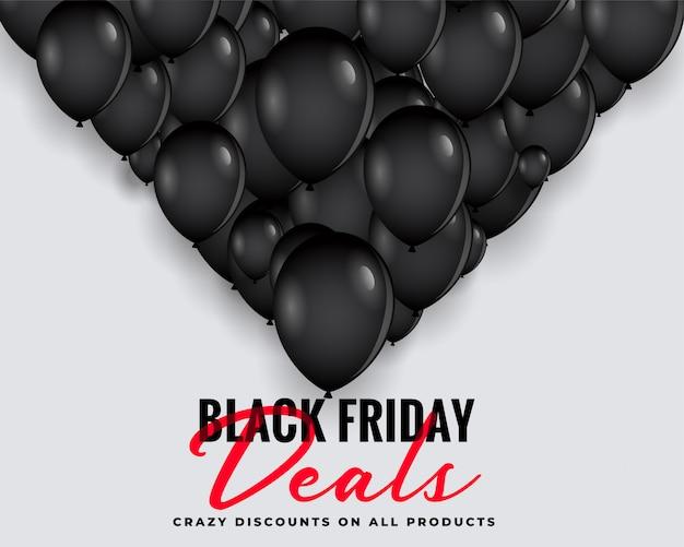 Sexta-feira negra lida fundo com balões