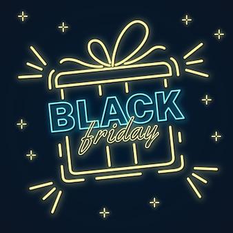Sexta feira negra neon