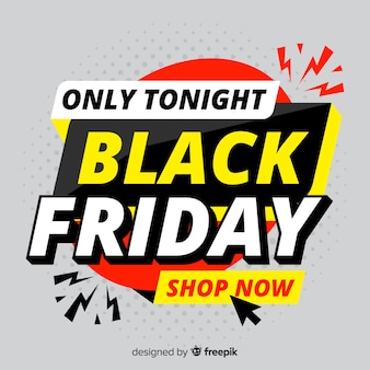 Sexta-feira negra plana compras online