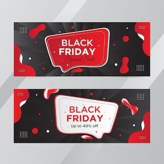 Sexta-feira negra promoção web banner design