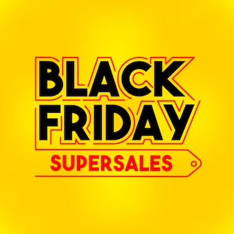 Sexta-feira negra supersales em fundo amarelo