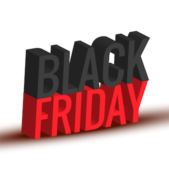 Sexta-feira negra texto 3d design