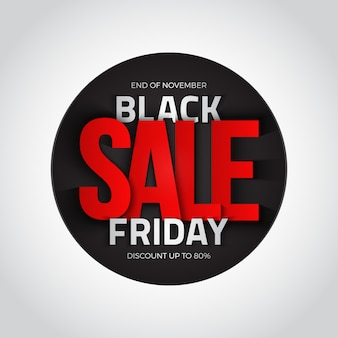 Sexta-feira negra venda 3d