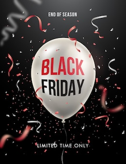 Sexta-feira negra venda cartaz ou banner design.