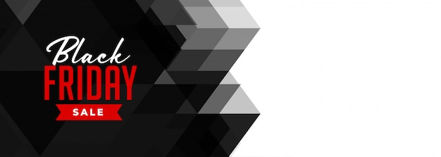 Sexta-feira negra venda geométrica banner