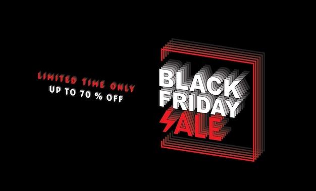 Sexta-feira negra, venda, modelo de design de banner, cor preta, tempo limitado apenas, fundo abstrato, vetor.