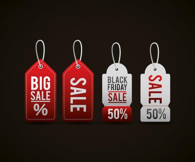 Sexta-feira preta etiquetas de preço