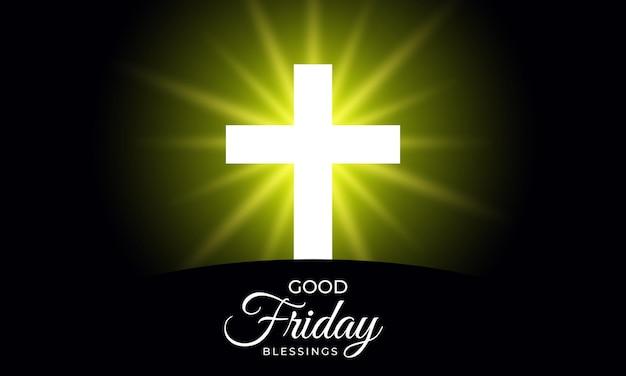 Sexta-feira santa do fundo cruzado