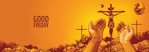 Sexta-feira santa, jesus cristo crucificação.