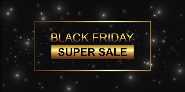 Sexta-feira super venda fundo preto glitter preto.