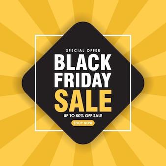 Sexta-feira venda fundo geométrico fundo preto