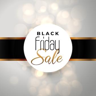 Sexta-feira venda fundo preto com efeito bokeh