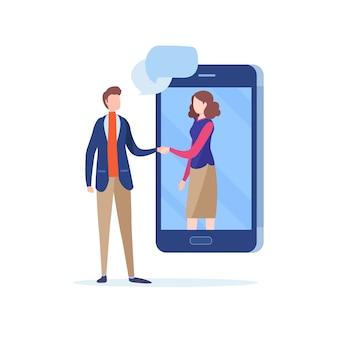 Shake de mão de pessoas de negócios