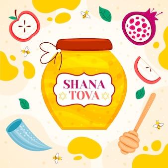 Shana tova desenhados à mão
