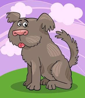 Sheepdog shaggy dog cartoon illustration
