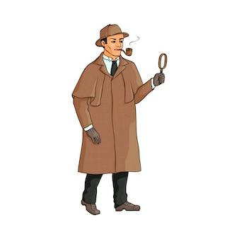 Sherlock holmes, personagem de detetive inglês