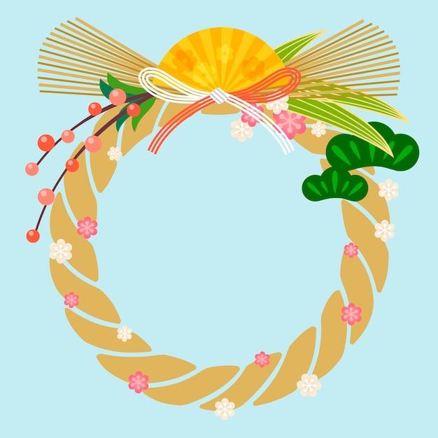 Shimekazari tradicional japonês, decorações de ano novo para o ano novo no japão