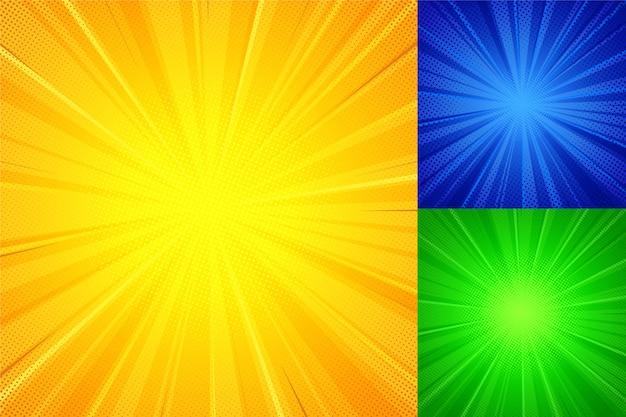 Shine ray halftone background