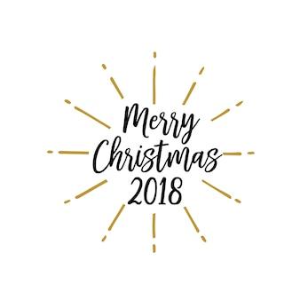Shining merry christmas inscription