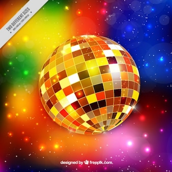 Shinny fundo bola de discoteca