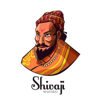 Shivaji maharaj ilustração avatar
