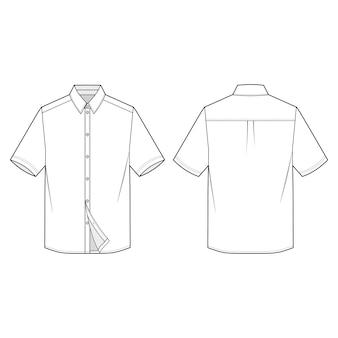 Short sleeve shirts modelo de esboço plana de moda