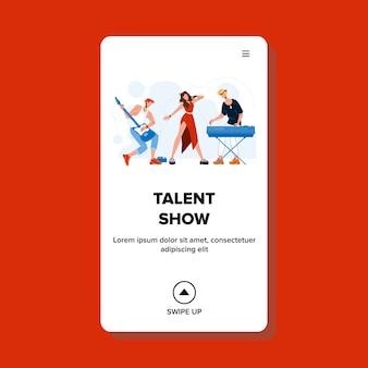 Show de talentos com música de banda musical