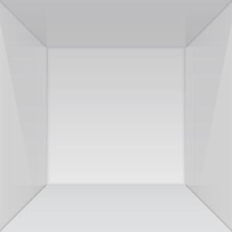 Show room vazio com canto quadrado.