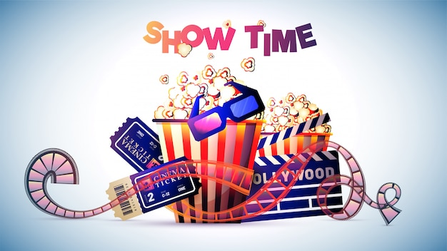 Show time movie ou cinema conceito.