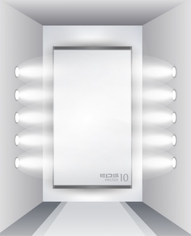 Showroom para produto com holofotes led