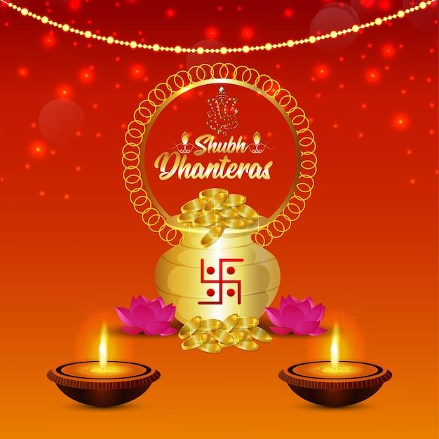 Shubh dhanteras, o fundo de celebração do festival da índia