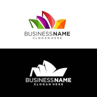 Sidney abstrato moderno edifício logotipo