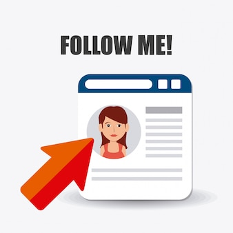 Siga-me social e empresarial