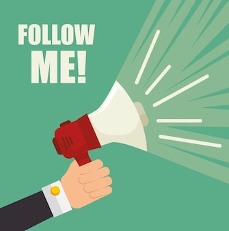 Siga-me tema da rede social