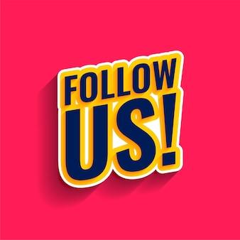 Siga-nos no banner de mídia social