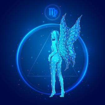 Signo do zodíaco de virgem em círculo