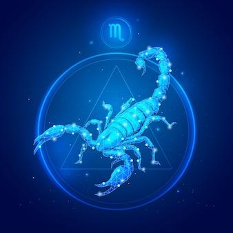 Signo do zodíaco escorpião em círculo