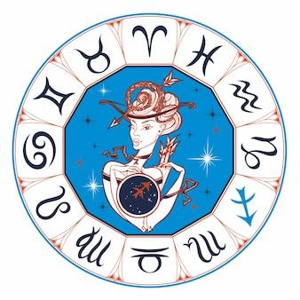 Signo do zodíaco sagitário uma menina bonita