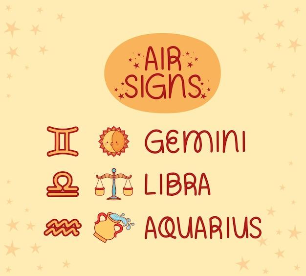 Signos de ar do zodíaco