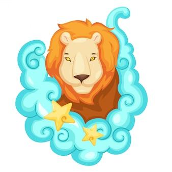 Signos do zodíaco - ilustração vetorial de leão