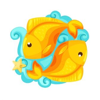 Signos do zodíaco - ilustração vetorial de peixes