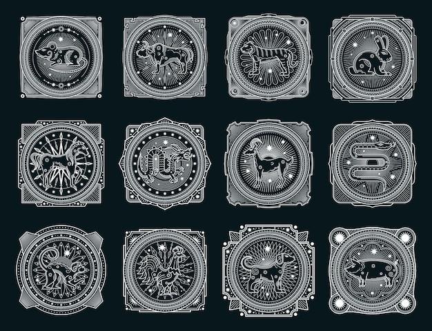 Signos ocultos do horóscopo chinês, animais do zodíaco