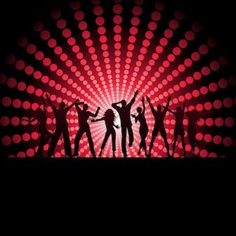 Silhoeuttes de pessoas dançando