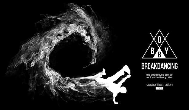 Silhueta abstrata de um breakdancer