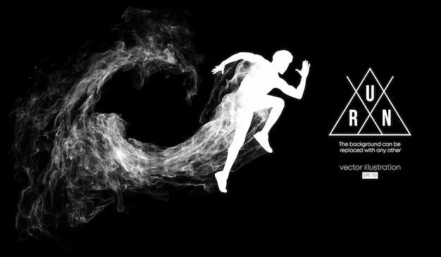 Silhueta abstrata de um homem correndo