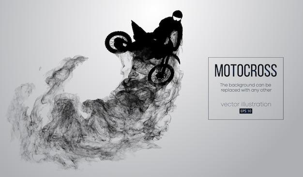 Silhueta abstrata de um piloto de motocross